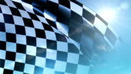 Checkered Flag on Blue Sky video
