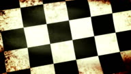 Checkered Flag Waving, grunge look video
