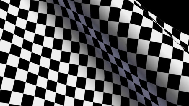 Checkered flag with fabric surface texture video