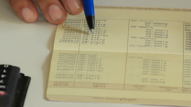 Checking bank book. video