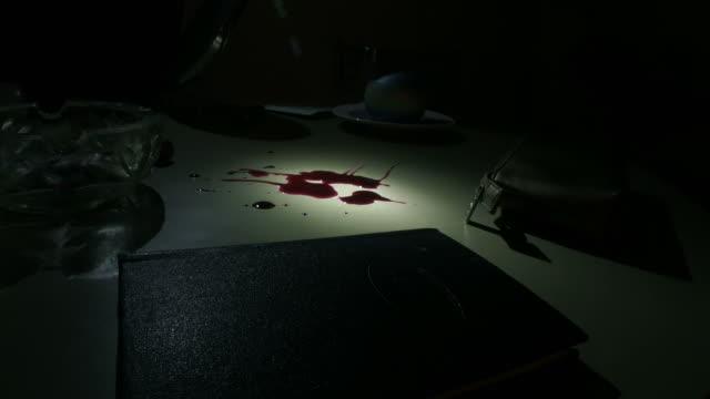 CSI checking blood video