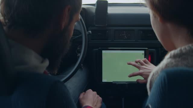 Checking car navigation video