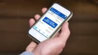 Checking Credit Score on Smartphone Average video