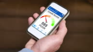 Checking Credit Score on Smartphone Poor video