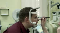 Checking  eyesight with A-scan ultrasound biometry video