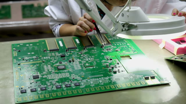 Checking mother board for communication network device after SMT video