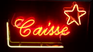 Checkout red neon lights in a fairground video