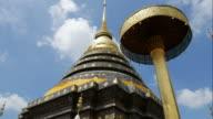 Chedi of Wat Phra That Lampang Luang,Thailand video