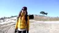 Cheerful female explorer video