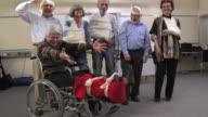 HD: Cheerful Group Of Injured Seniors video