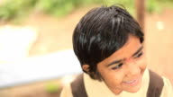 Cheerful little Indian girl video