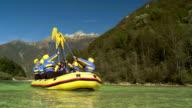 HD: Cheerful Rafters Raising Their Oars video