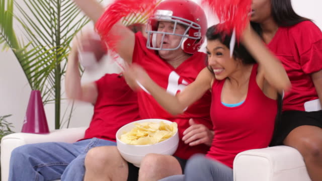 Cheering for football game video