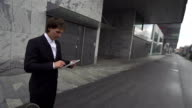 SLOW MOTION: cheering young businessman video