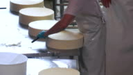 Cheese Blocks Being Prepared For Storing video