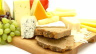 cheese closeup on board video