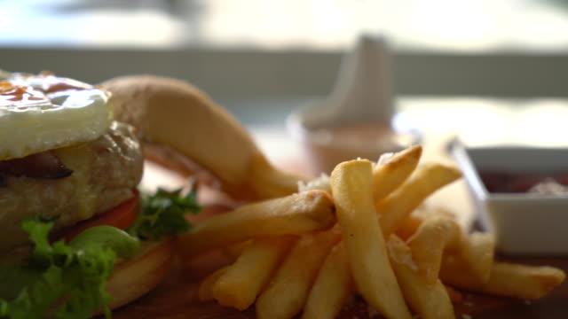 cheese pork burger video