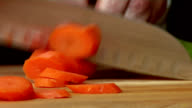 HD Chef Chopping Carrots/Celery video