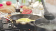 Chef cooking bolognese sauce and pasta video