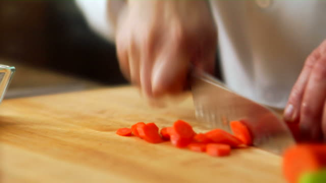 HD Chef Cutting Carrots video