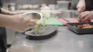 Chef Decorating Plate video