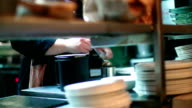 Chef finishing a meal. video