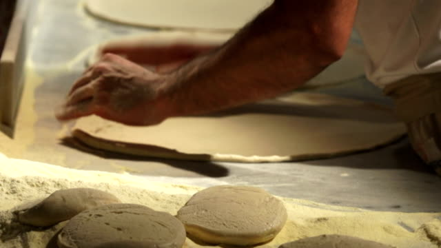 Chef Handling Pizza Dough Close-up video