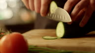 Chef is Rapidly Chopping Cucumber video
