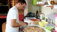 Chef Making Pizza video