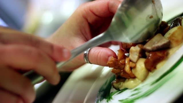 Chef preparing a gourmet dish video