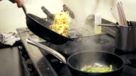 Chef preparing pasta video