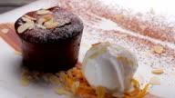 Chef put a mint for dessert. video