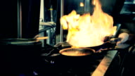 Chef With Open Flame video