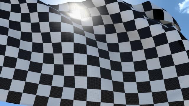 Chekered Flag. Seamless Loop video