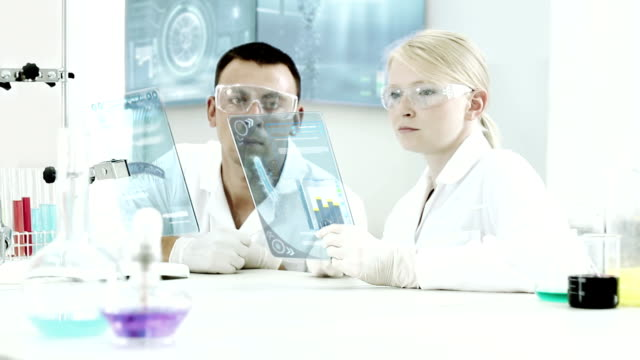 Chemical examinations in the laboratory. video