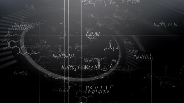 Chemical formulas (black) - Loop video