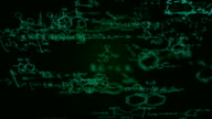 Chemical formulas (green) - Loop video