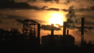 Chemical industrial pipes video