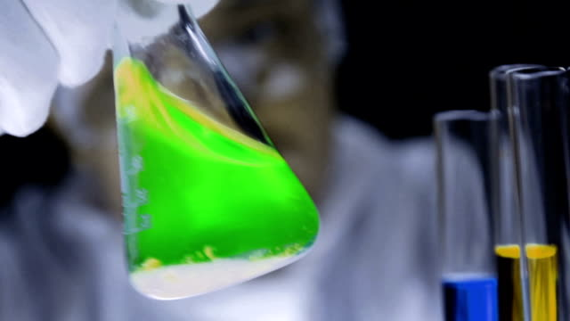 Chemical Reaction Close Up video