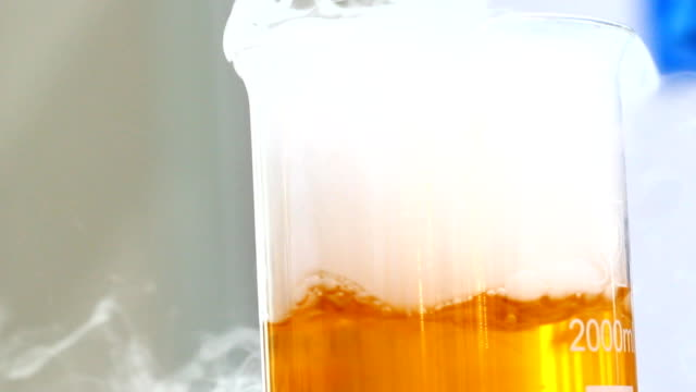 Chemical Reaction, smoke in glass tube video