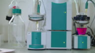 Chemical research equipment. Modern chemical equipment in biotechnology lab video
