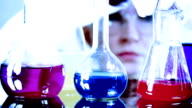 Chemist At Work In A Laboratory video