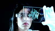 Chemist in laboratory video