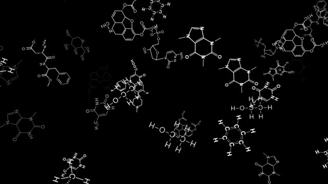 Chemistry Background - Seamless Looping, Alpha video