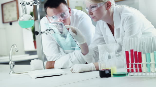 Chemists at Work In A Laboratory. video