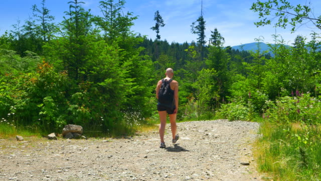 Chemotherapy Patient Survivor Therapy Exercise, Woman Hike on Gravel Path video