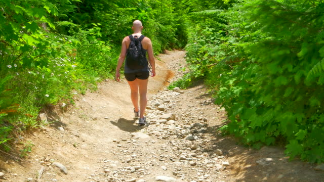 Chemotherapy Patient, Young Woman, Outdoor Nature Hike video