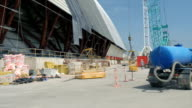Chernobyl Sarcophagus Construction From Outside video