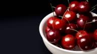 cherry close up black background video