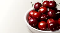 cherry close up white background video